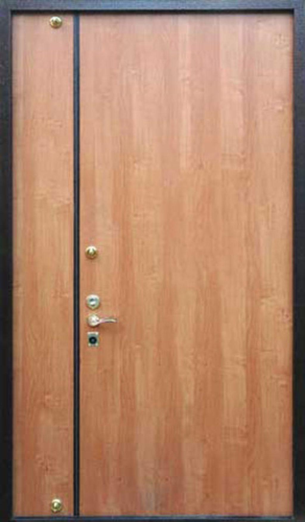 металлическая двухстворчатая ламинированная дверь