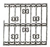 Эскизы решеток. Вариант №42